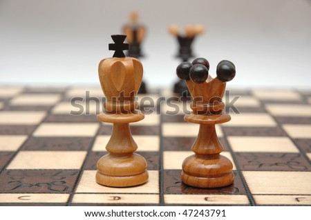 Chess strategy- kings and queens