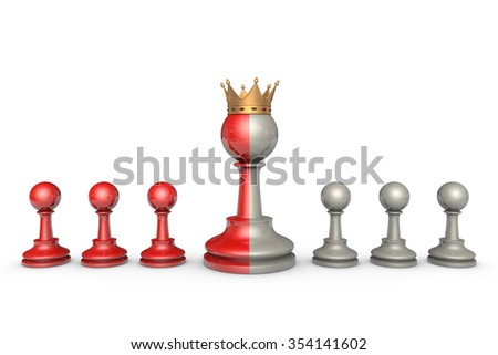 Chess Theater on a white background isolation.
