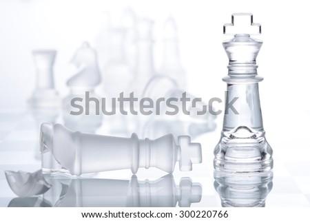 chess winner - stock photo