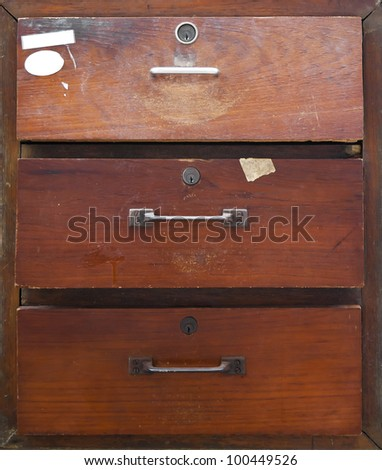 Chest and drawer - stock photo