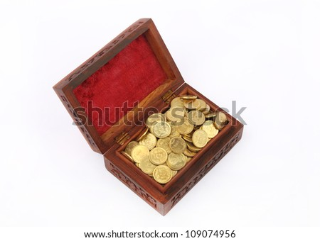Chest Filled with Gold Coins