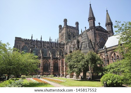Chester Cathedral, Cheshire, England, UK - stock photo
