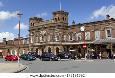 CHESTER, UK - MAY 9: The train station as on May 9 2011 in Chester, UK. Much of the architecture of central Chester looks medieval and some of it is but by far the greatest part of it is Victorian.