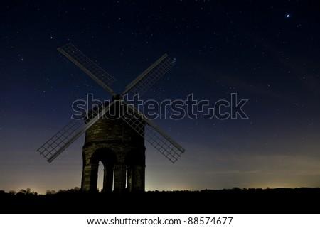 Chesterton Windmill at night - stock photo