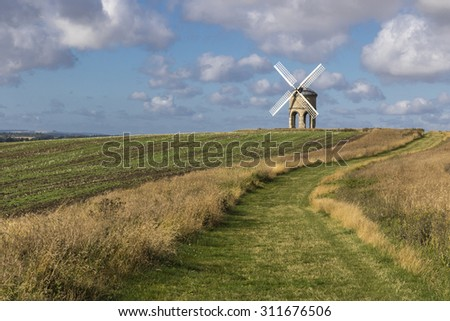 Chesterton Windmill, Warwickshire,England, built in 1632, possibly designed by Inigo Jones, its structure and mechanism are unique - stock photo