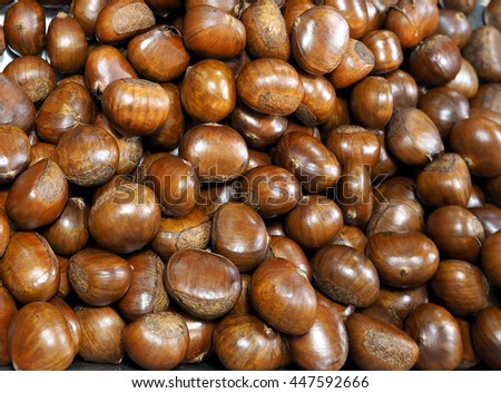 Chestnuts Roasted - stock photo