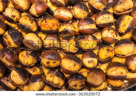 chestnuts roasted roma - stock photo