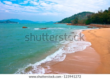 Cheung Chau Island coastal landscape,HONG KONG CHINA - stock photo