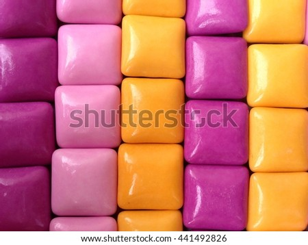 Chewing gum. Background. - stock photo
