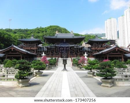 Chi Lin Nunnery, Hongkong - stock photo