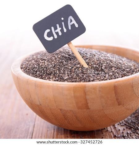 chia seed - stock photo
