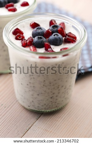 Chia seed pudding - stock photo