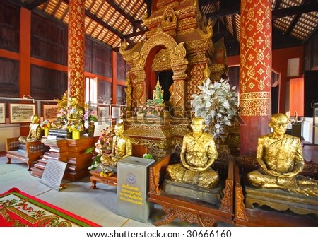 Chiang Mai temple - stock photo