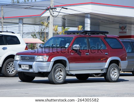 CHIANG MAI, THAILAND - JANUARY 11 2015: Private Suv Car. Photo at road no.1001 about 8 km from downtown Chiangmai, thailand. - stock photo