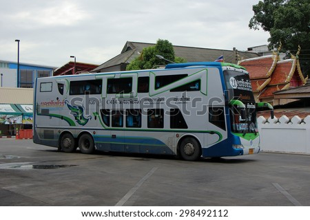 CHIANG MAI, THAILAND - JULY 18 2015:  Mercedes benz (Citaro body) of Nakhonchai tour company. Route Nakhon ratchasima and Chiangmai. Photo at Chiangmai bus station, thailand.