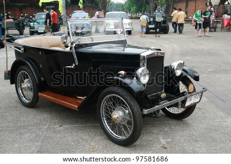 CHIANG MAI, THAILAND - MAR 10: Morris old classic car show in 1st Chiang Mai old classic car show Festival on March 10,2012 at Tha Phae Gate in Chiang Mai Thailand. - stock photo