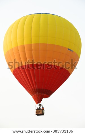 CHIANG RAI, THAILAND FEBRUARY 13, 2016:Singha Park International Balloon Fiesta 2016, take place between February 10th and 14th at Singha Park ,Chiang Rai province ,Thailand.