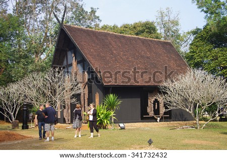 CHIANG RAI, THAILAND - January 20, 2015: Buildings on the territory of Baan Si Dum