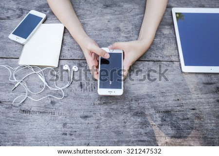 CHIANG RAI, THAILAND - SEPTEMBER 13, 2015: Tumblr micro-blogging service that allows users to post text messages on Apple iphone 6, images, videos, links, quotes and audio to their tumblelog. - stock photo