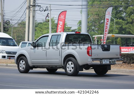 CHIANGMAI, THAILAND -APRIL 26 2016:  Private Pickup car, Nissan Navara. Photo at road no 121 about 8 km from downtown Chiangmai, thailand.