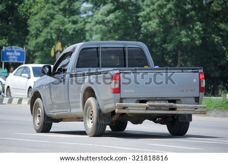 CHIANGMAI, THAILAND -AUGUST 21 2015: Private Pickup car, Isuzu D-max,dmax. Photo at road no 121 about 8 km from downtown Chiangmai, thailand.