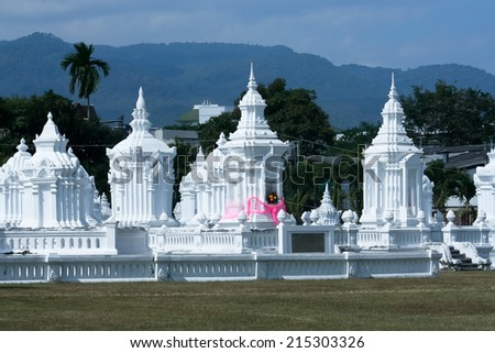 CHIANGMAI , THAILAND -DECEMBER 6 2007: Wat Suandok, Buddhist temple in the historic of Chiang Mai, Thailand. - stock photo
