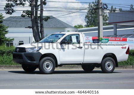 CHIANGMAI, THAILAND -JULY 27 2016:  Private Pick up Car, Toyota New Hilux Revo Standard Cab.   On road no.1001, 8 km from Chiangmai Business Area.