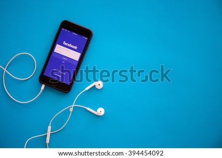CHIANGMAI,THAILAND - MARCH 22, 2016:Facebook application sign in page on Apple iPad. Facebook is largest and most popular social networking site in the world. - stock photo
