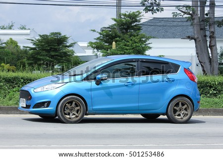 CHIANGMAI, THAILAND - OCTOBER 6  2016: Private car, Ford Fiesta. Photo at road no.121 about 8 km from downtown Chiangmai, thailand.