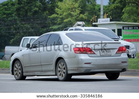 CHIANGMAI, THAILAND -SEPTEMBER  10 2015:   Private car toyota Camry. Photo at road no 121 about 8 km from downtown Chiangmai, thailand.
