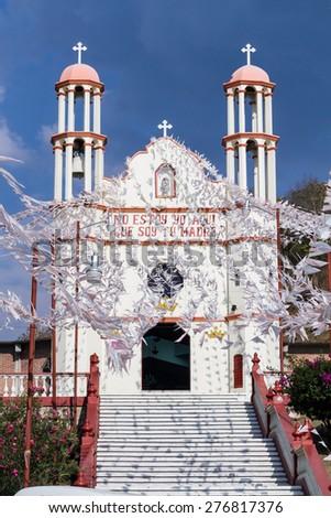 Chiapas, Mexico :March 24, 2015: Catholic Church in Chiapas, Mexico - stock photo