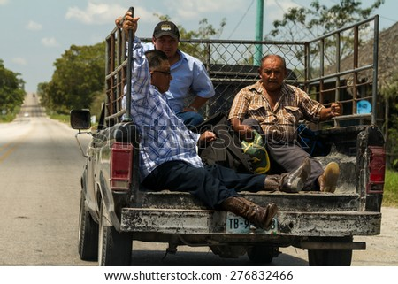 Chiapas, Mexico: 24 March, 2015. Popular people transport in Chiapas, Mexico. - stock photo