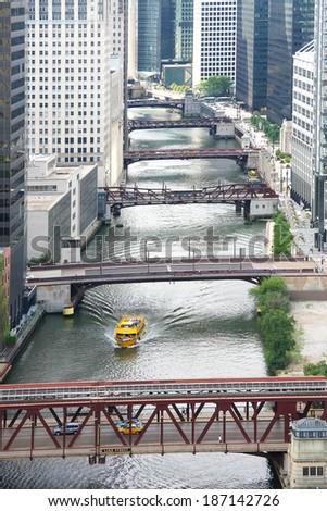 Chicago bridges - stock photo