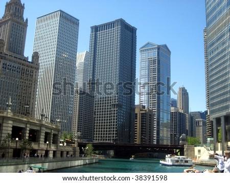 Chicago buildings - stock photo