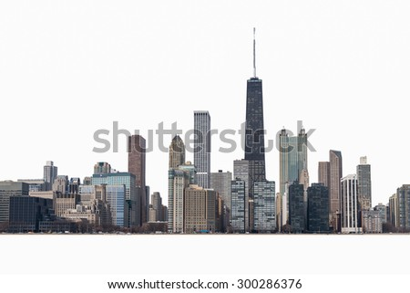 Chicago city on isolate  - stock photo