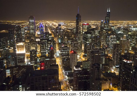Chicago Downtown From 95th Floor