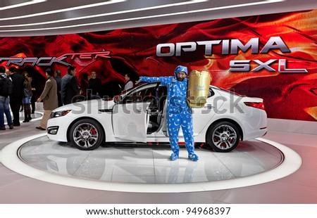 CHICAGO - FEB 8: The Kia Optima SXL makes its debut at the 2012 Chicago Auto Show Media Preview on February 8, 2012 in Chicago, Illinois.
