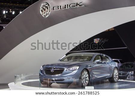 Chicago February 12 Buick Avenir Concept Stock Photo Royalty Free