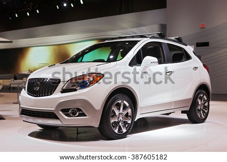 CHICAGO - February 12: The 2017 Buick Enclave on display at the Chicago Auto Show media preview February 12, 2016 in Chicago, Illinois. - stock photo