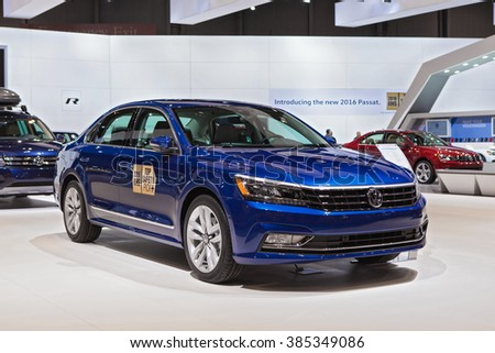 CHICAGO - February 11: The 2016 Volkswagen Passat on display at the North American International Auto Show media preview February 11, 2016 in Chicago, Illinois.
