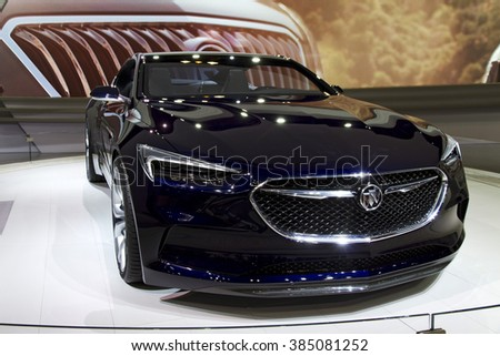 CHICAGO, IL - FEBRUARY 15: Buick AVISTA concept car at the annual International auto-show, February 15, 2016 in Chicago, IL