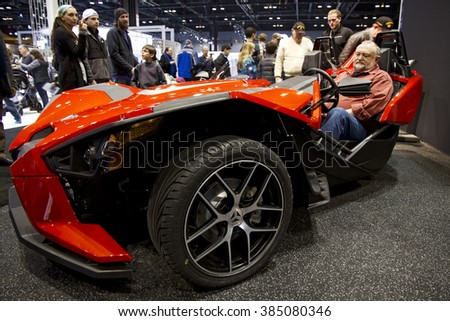 CHICAGO, IL - FEBRUARY 15: Campagna T-REX sport vehicle at the annual International auto-show, February 15, 2016 in Chicago, IL