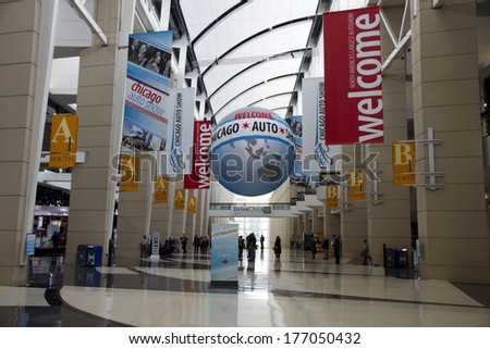 CHICAGO, IL - FEBRUARY 8: Chicago International auto-show, February 8, 2014 in Chicago, IL