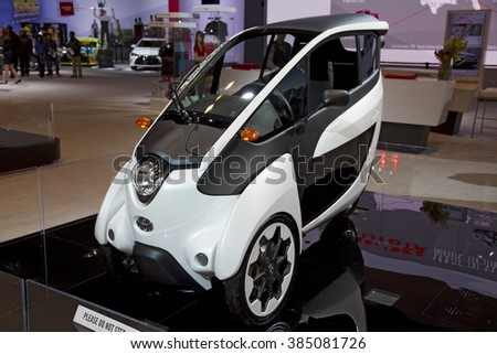 CHICAGO, IL - FEBRUARY 15: TOYOTA iRoad at the annual International auto-show, February 15, 2016 in Chicago, IL