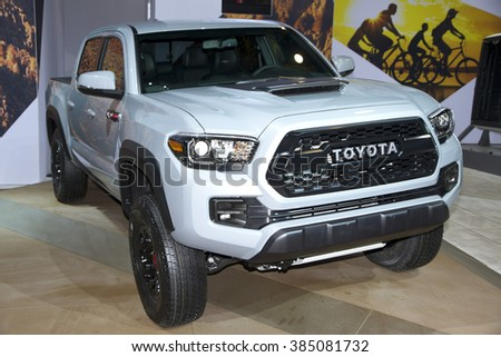 CHICAGO, IL - FEBRUARY 15: Toyota Tacoma TRD PRO 2017 at the annual International auto-show, February 15, 2016 in Chicago, IL