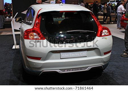 CHICAGO, IL - FEBRUARY 20: Volvo Concept C30 model at the International auto-show on February 20, 2011 in Chicago, IL - stock photo
