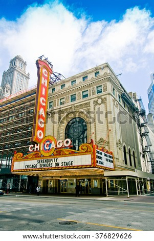 CHICAGO, IL - MAY 22: Chicago Theater on MAY 22, 2008 in Chicago, Illinois. - stock photo