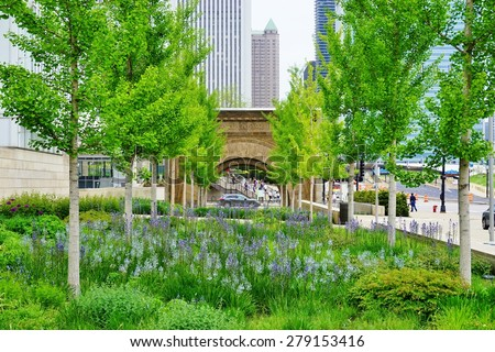CHICAGO, IL -14 MAY 2015- The Art Institute of Chicago (AIC), located off of Michigan Avenue (Magnificent Mile), is the second largest art museum in the United States. - stock photo