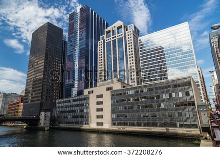 Chicago, IL/USA - circa July 2015: General Growth building of Downtown Chicago, Illinois - stock photo