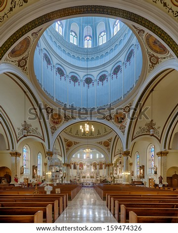 CHICAGO, ILLINOIS - OCTOBER 20: Interior of the St. Mary of Perpetual Help Church at 1039 West 32nd Street on October 20, 2013 in Chicago, Illinois